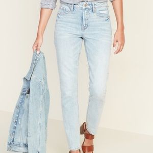 High Waisted Power Slim Straight Jeans for Women